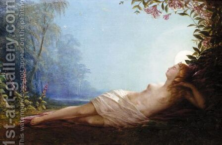 The Sleep Of Titania by (after) John Simmons - Reproduction Oil Painting