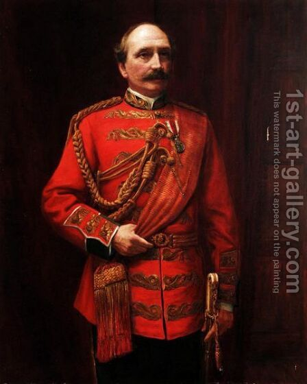 Portrait Of Lieutenant Colonel H. St. Clair Wilkins by (after) Baron Heinrich Von Angeli - Reproduction Oil Painting