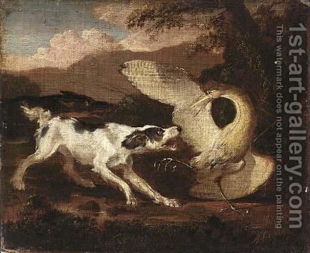 Dogs Attacking A Heron by Abraham Danielsz Hondius - Reproduction Oil Painting
