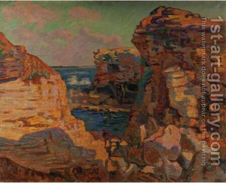 St. Palais, La Pierriere, Cote Ouest (Bretagne) by Armand Guillaumin - Reproduction Oil Painting