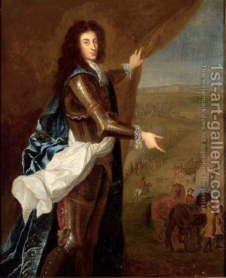 A Portrait Of A Nobleman by (after) Hyacinthe Rigaud - Reproduction Oil Painting