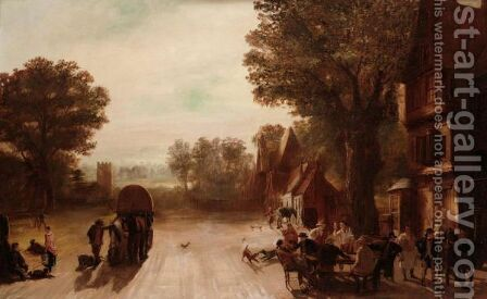 The Village Inn by Henry Ladbrooke - Reproduction Oil Painting