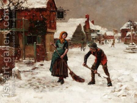 A Winter Wonderland by Henry John Yeend King - Reproduction Oil Painting