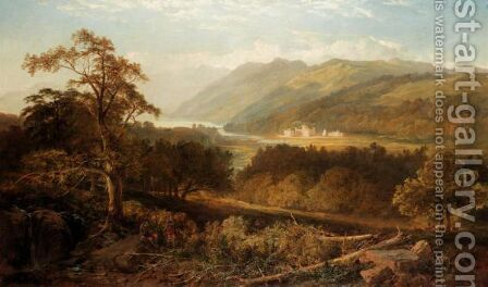 Taymouth Castle by Edmund John Niemann, Snr. - Reproduction Oil Painting