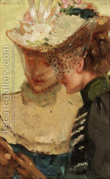 Study Of Hats by (after) Albert Ludovici - Reproduction Oil Painting