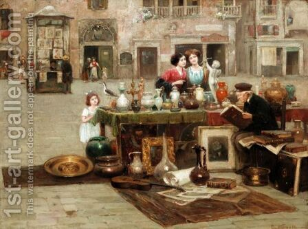 The Old Antique Seller by Cesare Vianello - Reproduction Oil Painting