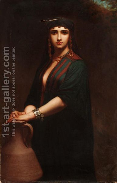 L'Orientale by Charles Zacharie Landelle - Reproduction Oil Painting