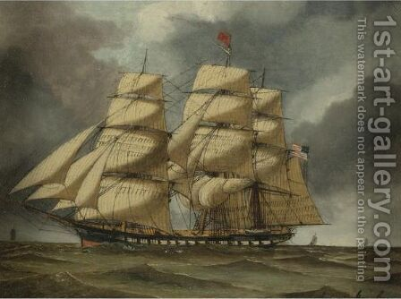 Sailing Ship by Antonio Jacobsen - Reproduction Oil Painting