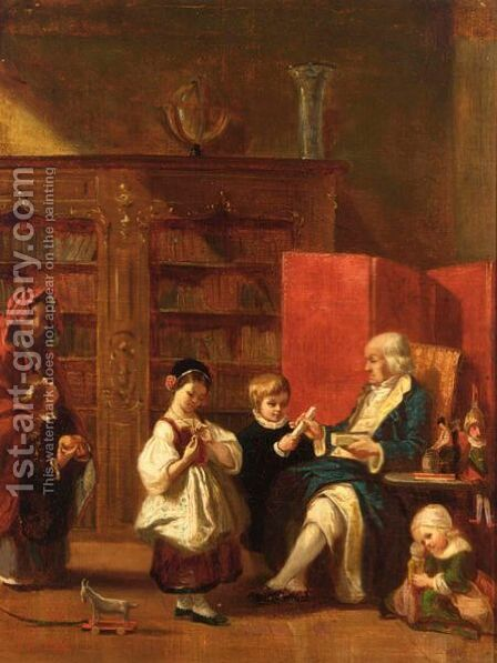 A Happy Family by Hubertus van Hove - Reproduction Oil Painting