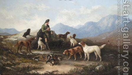 A Shoot In The Highlands by J.T. Tuite - Reproduction Oil Painting