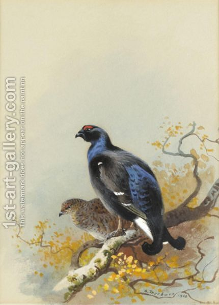 Black Game by Archibald Thorburn - Reproduction Oil Painting