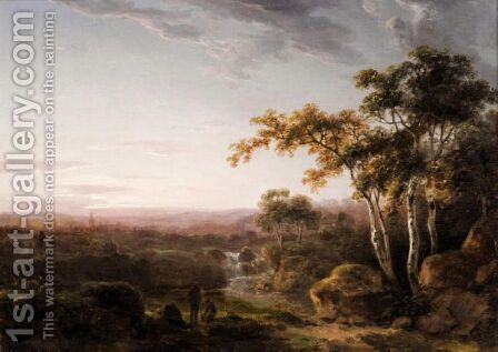 Landscape With Figures At Landscape by Abraham Pether - Reproduction Oil Painting