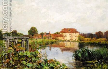 A River Landscape With Houses In The Distance by Henry John Yeend King - Reproduction Oil Painting