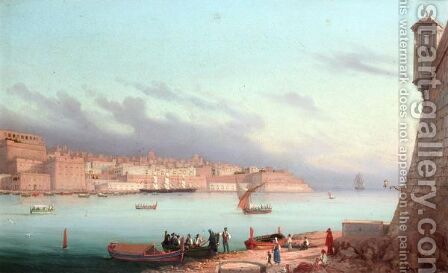The Grand Harbour At Valetta by Girolamo Gianni - Reproduction Oil Painting