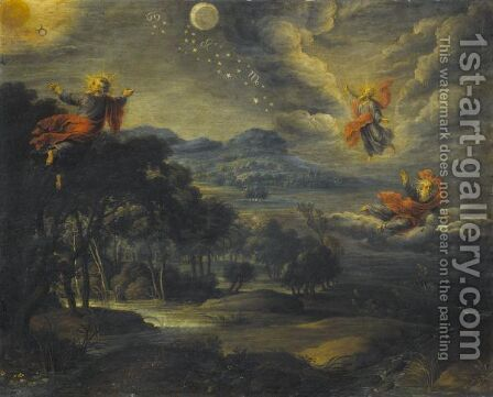 The Creation Of Heaven, Earth And Water by (after) Willem Van, The Elder Herp - Reproduction Oil Painting