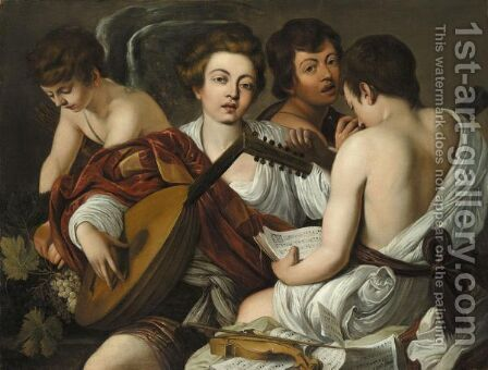 The Musical Party by (after) Michelangelo Merisi Da Caravaggio - Reproduction Oil Painting