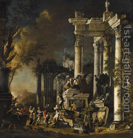 Alexander At The Tomb Of Achilles by Italian Unknown Master - Reproduction Oil Painting