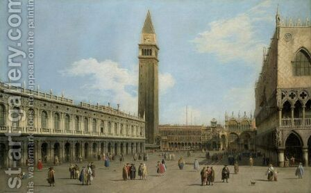 Venice, A View Of The Piazzetta Looking North by (Giovanni Antonio Canal) Canaletto - Reproduction Oil Painting