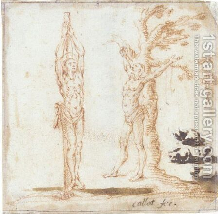Studies For Figures Of St. Sebastian And St. Bartholomew, And Of Cats by Jacques Callot - Reproduction Oil Painting
