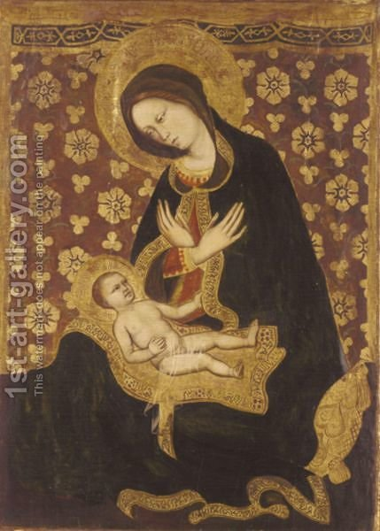 Madonna Dell' Umilita by (after) Gentile Da Fabriano - Reproduction Oil Painting