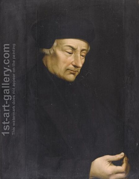Portrait Of Erasmus (1466 - 1536) by (after) Holbein the Younger, Hans - Reproduction Oil Painting