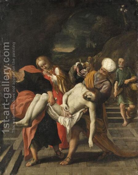 The Entombment by (after) Lodovico Carracci - Reproduction Oil Painting