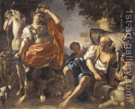 Erminia Among The Shepherds by (after) Paolo De Maio - Reproduction Oil Painting