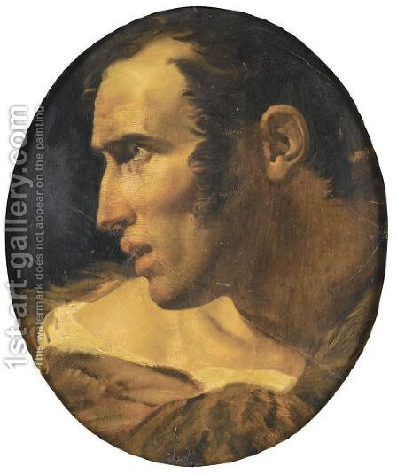 Head Of A Young Man by (after) Anne-Louis Girodet De Roussy-Trioson - Reproduction Oil Painting