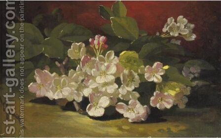 Apple Blossoms by Edward Chalmers Leavitt - Reproduction Oil Painting