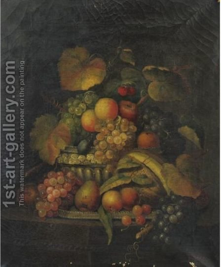 Still Life With Fruit by Charles Baum - Reproduction Oil Painting