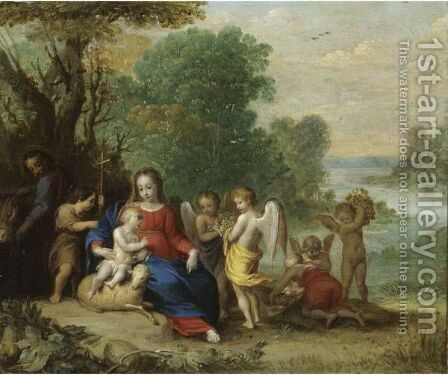 The Rest On The Flight Into Egypt 2 by (after) Pieter Van Avont - Reproduction Oil Painting