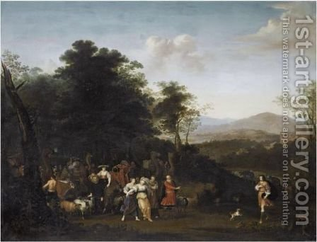 The Meeting Of Jacob And Laban by (after) Francois Verwilt - Reproduction Oil Painting