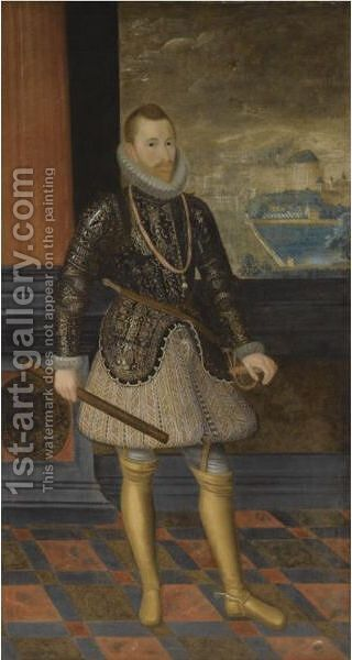 Portrait Of A Nobleman, Believed To Be The Archduke Albert Of Austria (1559-1621) by (after) Juan Pantoja De La Cruz - Reproduction Oil Painting