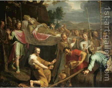 The Miracle Of St Arnould by (after) Philippe De Champaigne - Reproduction Oil Painting