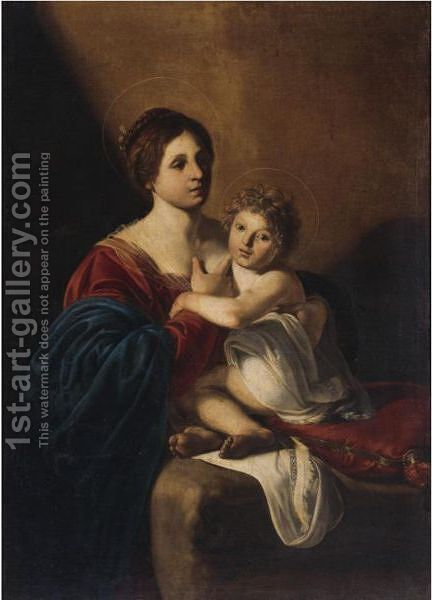 The Virgin And Child by (after) Nicolas Tournier - Reproduction Oil Painting