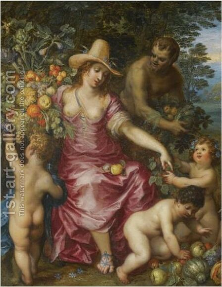 Flora An Allegory Of Spring by Hendrik Van Balen II - Reproduction Oil Painting