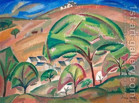 Landscape At Orsay (The Green Tree), 1912 by Alice Bailly - Reproduction Oil Painting