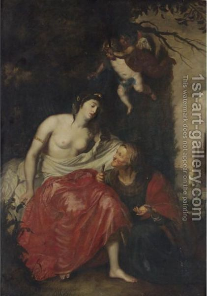 Vertumnus And Pomona by (after) Abraham Janssens Van Nuyssen I - Reproduction Oil Painting