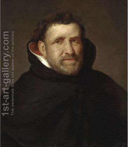 A PORTRAIT OF THE DOMINICAN FRIAR MICHIEL OPHOVIUS (1570-1637) by (after) Sir Peter Paul Rubens - Reproduction Oil Painting
