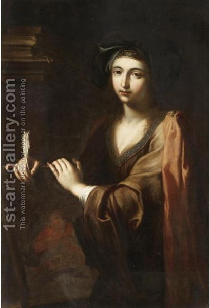 The Erythraean Sibyl by (after) Giovanni Domenico Cerrini - Reproduction Oil Painting