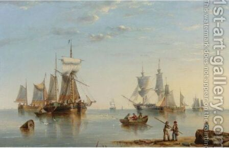Shipping Off The Coast 2 by Henry Redmore - Reproduction Oil Painting