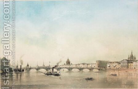 Panoramic View Of St. Petersburg by Iosef Iosefovich Charlemagne - Reproduction Oil Painting