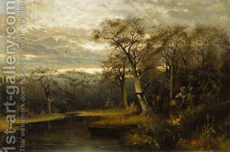 Winter Landscape 2 by (after) Iulii Iul'evich (Julius) Klever - Reproduction Oil Painting