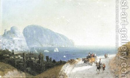 Travellers In Gurzuf by (after) Ivan Konstantinovich Aivazovsky - Reproduction Oil Painting
