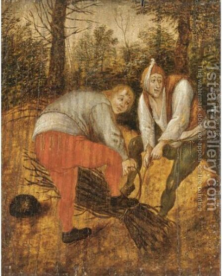 Raccoglitori Di Legna, L'Autunno by (after) Pieter The Elder Bruegel - Reproduction Oil Painting
