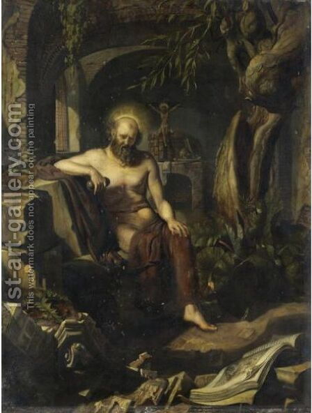 San Gerolamo by (after) Adriaen Van Der Werff - Reproduction Oil Painting