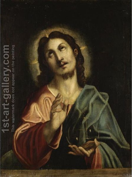 Cristo Benedicente by (after) Federico Fiori Barocci - Reproduction Oil Painting