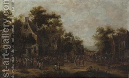 Festa Paesana by (after) Pieter Bout - Reproduction Oil Painting