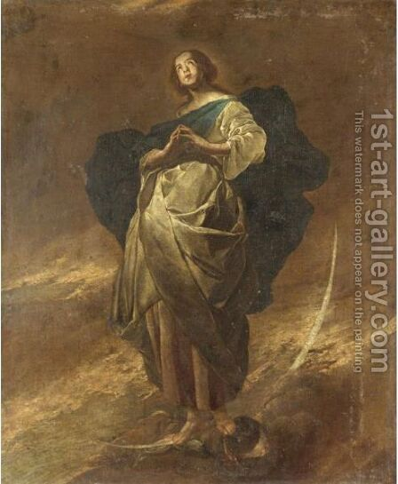 Immacolata Concezione by Italian School - Reproduction Oil Painting