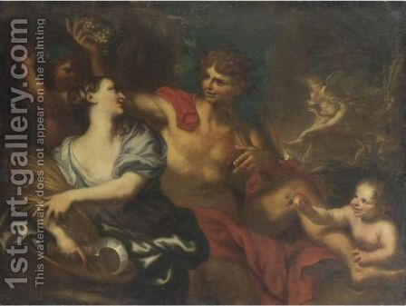 Sine Cerere Et Baccho Friget Venus by Domenico Piola - Reproduction Oil Painting